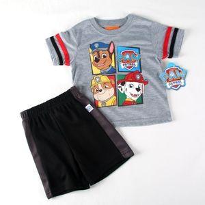 PAW PATROL Grey Short Set Boys size 18 mo NEW